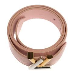 Louis Vuitton Rose Ballerine Epi Leather Twist Belt 85CM