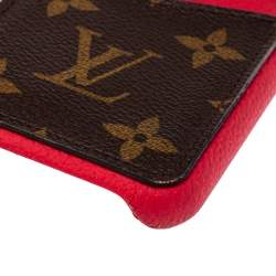 Louis Vuitton Scarlet Leather and Monogram Canvas iPhone 11 Pro