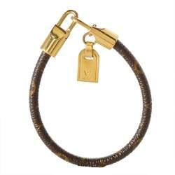 Louis Vuitton Brown Monogram Canvas Luck It Bracelet