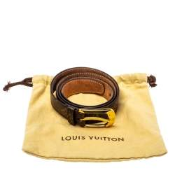 Louis Vuitton Monogram Canvas Ellipse Belt 90CM