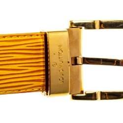 Louis Vuitton Tassil Yellow Epi Leather Ceinture Classique Belt 85 CM