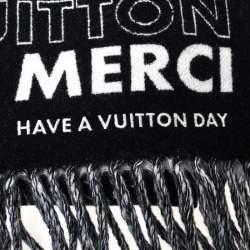 Louis Vuitton Black LV List City Tuch Wool Scarf