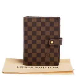 Louis Vuitton Damier Ebene Canvas Medium Ring Agenda Cover