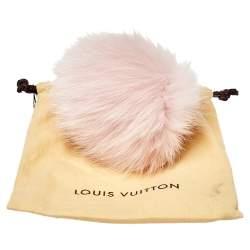 Louis Vuitton Powder Pink Fur Fuzzy Bubble Bag Charm