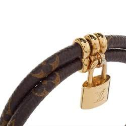 Louis Vuitton Brown Monogram Canvas Keep It Twice Bracelet
