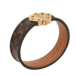 Louis Vuitton Brown Spirit Nano Monogram Bracelet