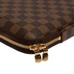 Louis Vuitton Damier Ebene Canvas Sleeve PM Laptop Bag