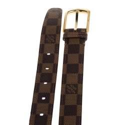 Louis Vuitton Damier Ebene Canvas Ellipse Belt 90CM