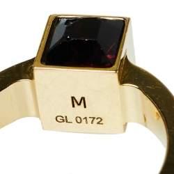Louis Vuitton Gamble Crystal Gold Tone Ring M