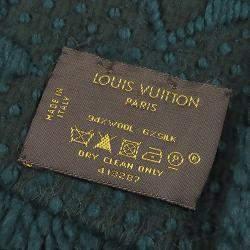 Louis Vuitton Green Wool Monogram Logomania Scarf
