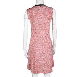 Louis Vuitton Red and White Space Dye Knit Sleeveless Dress S