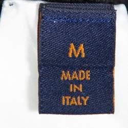 Louis Vuitton Black Logo Embroidered Wool Crewneck Sweatshirt M