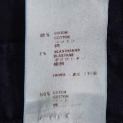 Louis Vuitton Indigo Monogram Eyelet Embroidered Denim Short Sleeve Shirt M