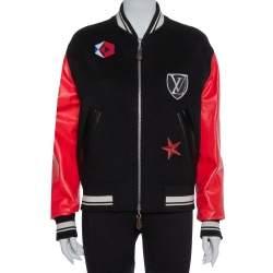 Louis Vuitton Black Wool Contrast Sleeve Varsity Jacket M