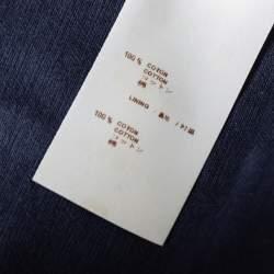 Louis Vuitton Navy Blue Cotton Button Detail Shorts S
