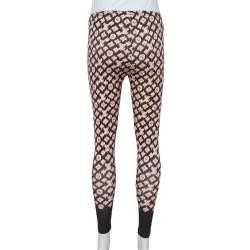 Louis Vuitton Pink & Black Knit Leggings M