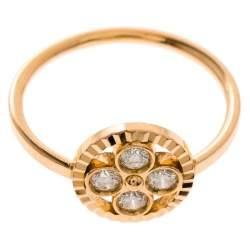 Louis Vuitton Blossom BB Diamond 18k Rose Gold Ring Size 51