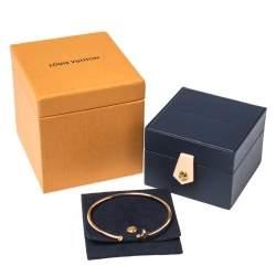 Louis Vuitton Idylle Blossom Diamond 18K Rose Gold Twist Cuff Bracelet