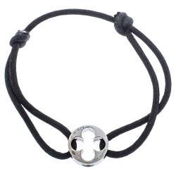 Louis Vuitton Empreinte 18K White Gold Adjustable Cord Bracelet