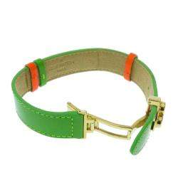 Louis Vuitton Green Monogram Vernis Wish Bracelet