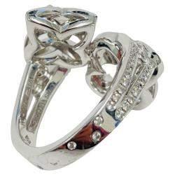 Louis Vuitton 18K White Gold Les Ardentes Diamond Ring Size EU 49