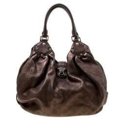 Louis Vuitton Metallic Mordore Monogram Mahina Leather Large Hobo