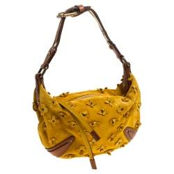 Louis Vuitton Mais Monogram Suede Limited Edition Onatah Fleurs PM Bag