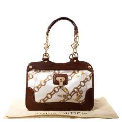 Louis Vuitton Brown/White Monogram Coated Canvas Linda Charms Bag