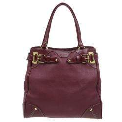 Louis Vuitton Red Suhali Leather Le Majestueux Tote