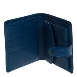 Louis Vuitton Blue Epi Leather Compact Wallet
