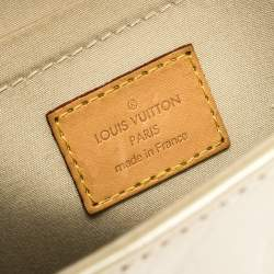 Louis Vuitton Blanc Corail Monogram Vernis Bellflower PM Bag