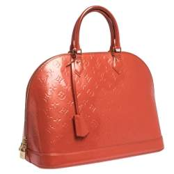 Louis Vuitton Orange Sunset Monogram Vernis Alma GM Bag