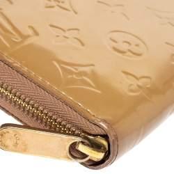 Louis Vuitton Noisette Monogram Vernis Zippy Wallet