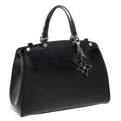Louis Vuitton Black Electric Epi Leather Brea MM Bag
