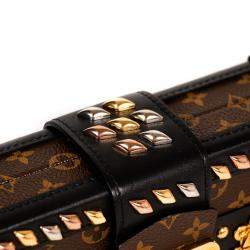 Louis Vuitton Monogram Canvas Studded Petite Malle Bag