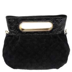 Louis Vuitton Black Monogram Patent And Suede Leather Limited Edition Motard Afterdark Bag