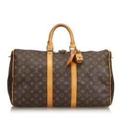 Louis Vuitton Monogram Canvas Large Keepall 45 Duffel Bag