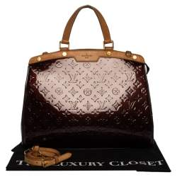 Louis Vuitton Amarante Monogram Vernis Brea GM Bag
