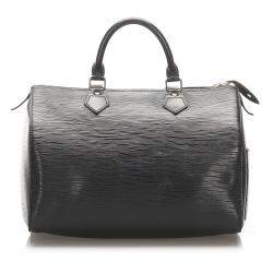 Louis Vuitton Black Epi Leather Speedy 30 Bag