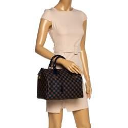 Louis Vuitton Blue Damier Ebene Paillettes Limited Edition Speedy 30 Bag