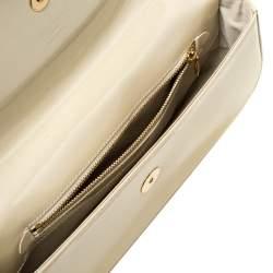 Louis Vuitton Beige Poudre Vernis Sobe Clutch