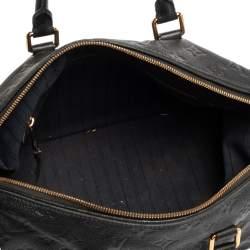 Louis Vuitton Blue Infini Monogram Empreinte Speedy Bandouliere 30 Bag