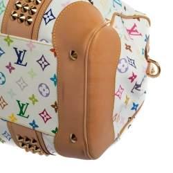 Louis Vuitton White Monogram Multicolore Canvas Courtney GM Bag