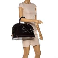 Louis Vuitton Amarante Monogram Vernis Alma GM Bag