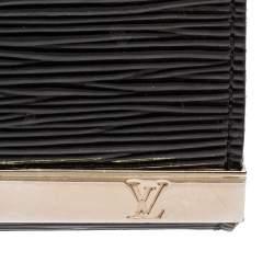 Louis Vuitton Black Electric Epi Leather Sevigne Bag