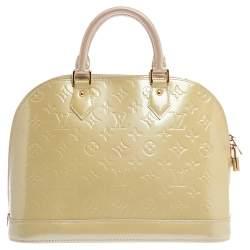 Louis Vuitton Vert Impression Monogram Vernis Leather Alma PM Bag