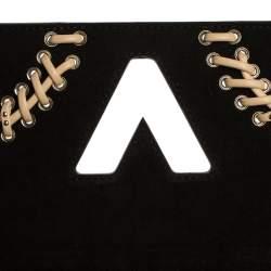 Louis Vuitton Black Epi Leather Braid Work Twist MM Bag