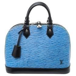Louis Vuitton Light Denim Epi Leather Alma PM Bag