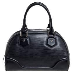 Louis Vuitton Black Epi Leather Bowling Montaigne PM Bag