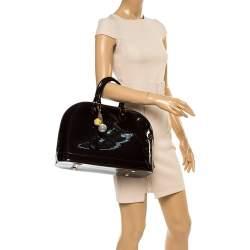 Louis Vuitton Amarante Monogram Vernis Alma GM Bag with Charm